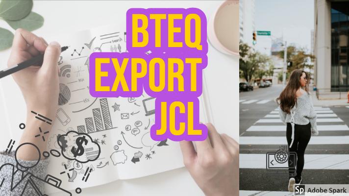 bteq export jcl