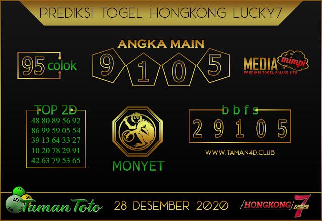 cPrediksi Togel HONGKONG LUCKY 7 TAMAN TOTO 28 DESEMBER 2020