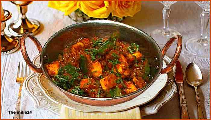 Kadhai Paneer Dhaba style Recipe.
