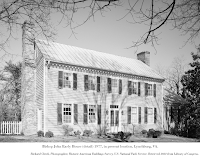 Photo, Bishop John Early House (detail) 1977, in present location, Lynchburg, VA. Richard Cheek, Photographer, Historic American Buildings Survey, U.S. National Park Service. Retrieved 2021 from Library of Congress.