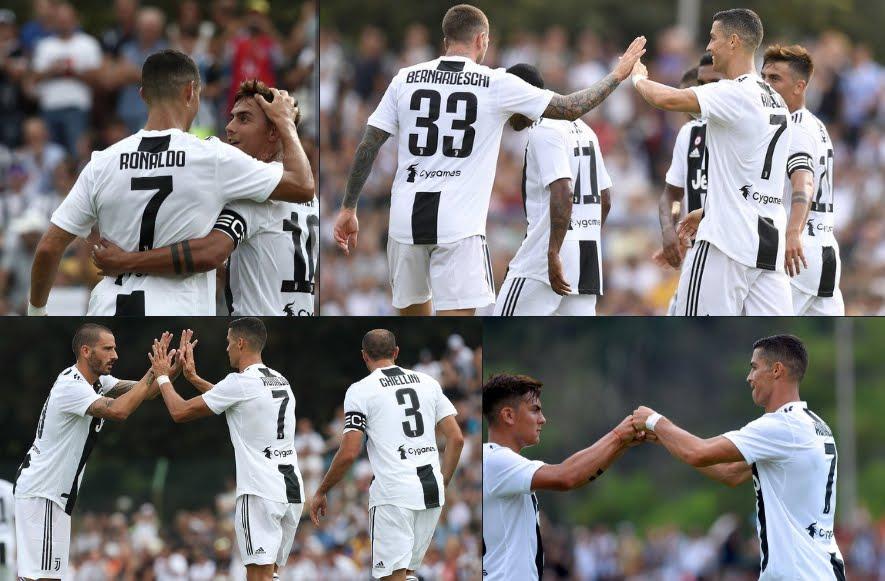 La formazione tipo della Juventus con CR7 Cristiano Ronaldo.