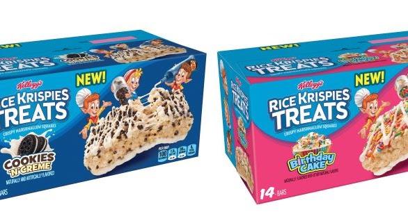 Cookies N Cream And Birthday Cake Rice Krispies Treats Coming In January 2018