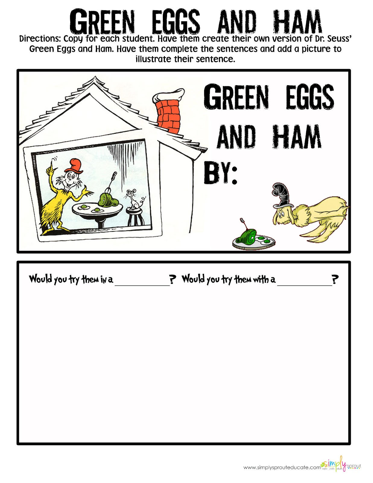 Worksheet Green Eggs And Ham Worksheets Grass Fedjp