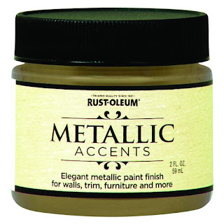 Photo of a jar of metallic gold paint