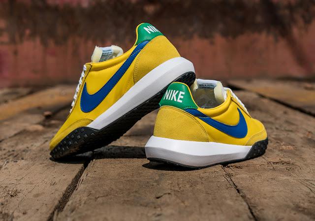 Nike Sportswear Waffle Racer retro sneaker verde amarelo