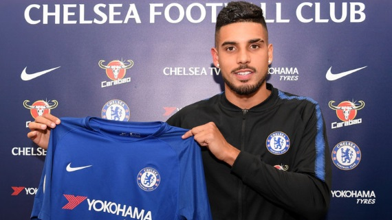 Chelsea have signed defender Emerson Palmieri from Roma for a fee of £17.6m