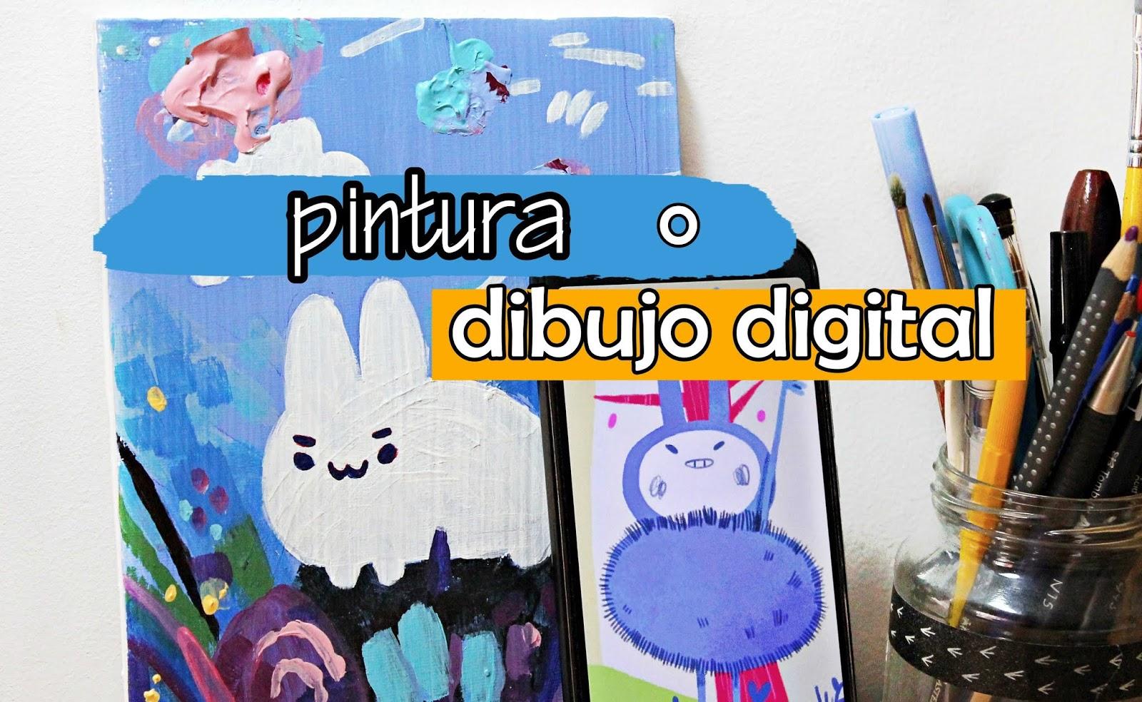 Mancha y píxel 🎨 Dibujo digital y pintura tradicional