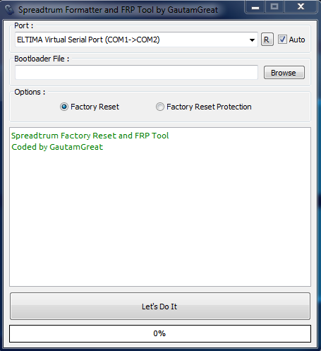 Spreadrum Formatter Frp Tool By Gautam Great  1 Clike All Lock Remove 100% Working