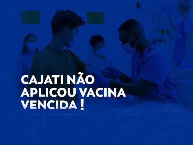 NOTA OFICIAL Cajati não recebeu e nem aplicou vacina vencida