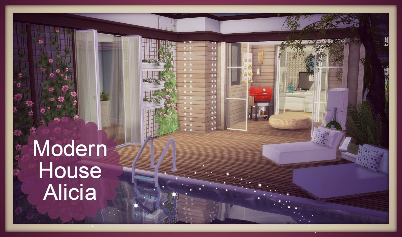 Sims 4 building on newcrest modern house dinha for The sims 4 house designs modern villa