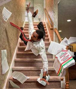 prevenir escalier chute
