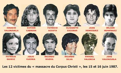 Par ce massacre cruel et retentissant la dictature a voulu d'une part détruire l'appareil militaire du FPMR, qui avait montré une redoutable efficacité depuis sa création en 1983, et d'autre part venger le tyrannicide manqué du 7 septembre 1986. L'important exploit militaire qui a signifié l'attentat, quasiment l'élimination physique du dictateur, et des actions symboliques appréciés du peuple et qui ont défié ouvertement le pouvoir, ne pouvaient rester impunies. La tuerie du Corpus Christi est ainsi un acte froidement mûri dans la machinerie militaire de la répression. Près d'une centaine de sicaires sont partis du quartier central Borgoño de la CNI pour exécuter l'opération le 14 juin 1987, par ordre expresse de Pinochet et sous commandement d'Alvaro Corbalán Castilla, qui en haranguant sa troupe leur a crié : « le Condor veut de la chair ! ».