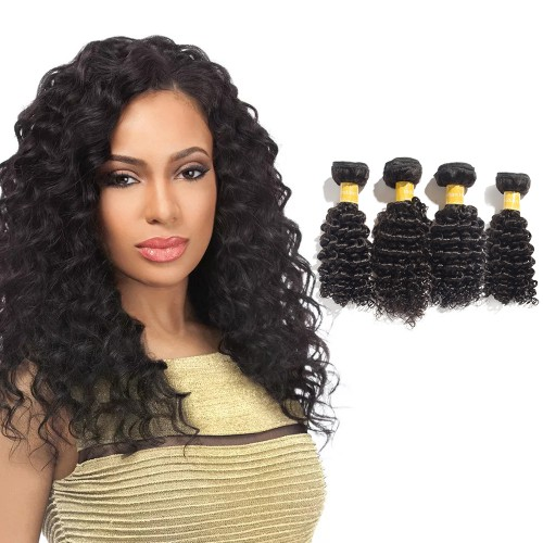 Virgin Indian Hair Deep Curly 4 Bundles