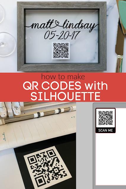 silhouette 101, silhouette america blog, qr code, qr code craft, vinyl
