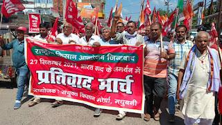 cpi-ml-protest-for-farmer-madhubani