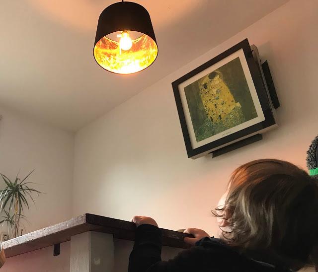 DIY Lampe mit Blattgold - erster Test bei Tag
