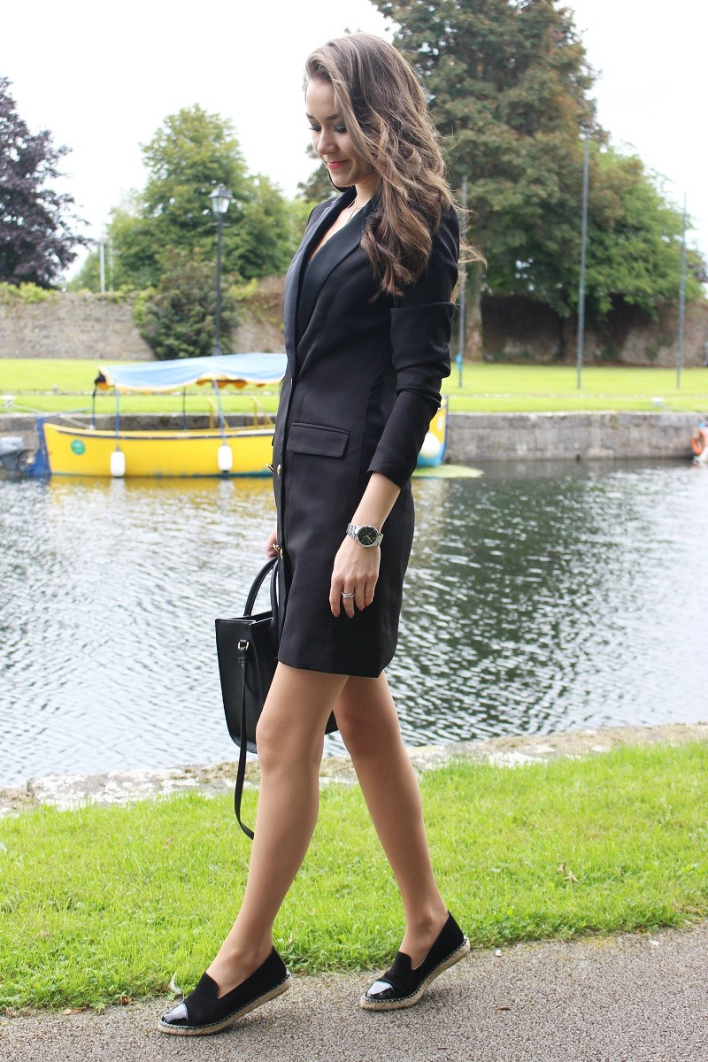 missguided black blazer dress
