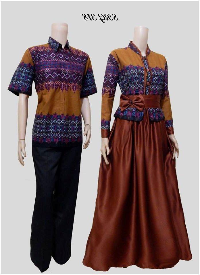 belanja online Model Baju Batik Muslim  Couple Modern 2019