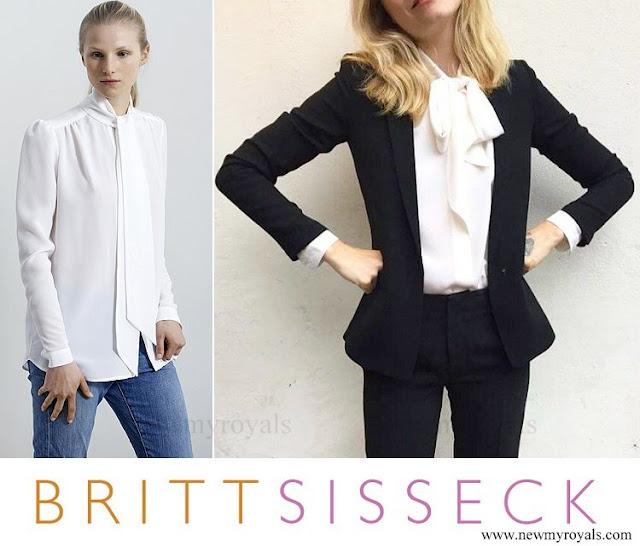 Crown Princess Mary wore Britt Sisseck Silk Shirt