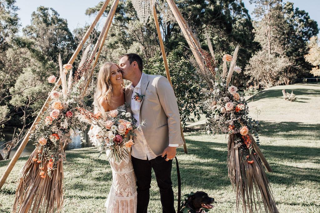 LOVE: GEMMA AND JOSH | LUSCIOUS BOHO WEDDING GOLD COAST QLD