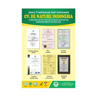 sertifikat obat kencing sakit de nature