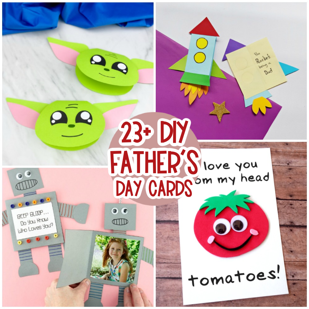 DIY Father's Day Cards for kids to make