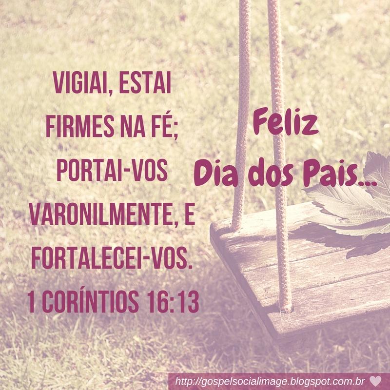 Imagem com versículos bíblicos dia dos pais
