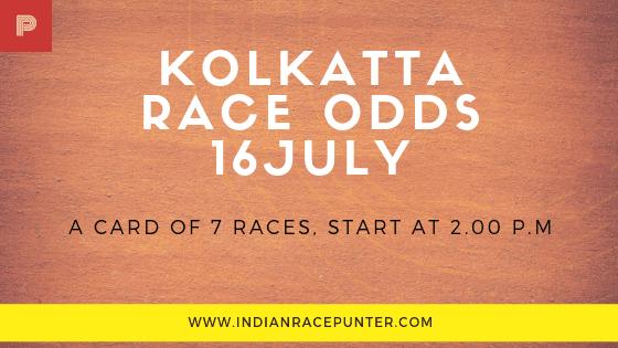 Kolkatta Race Odds 16 July