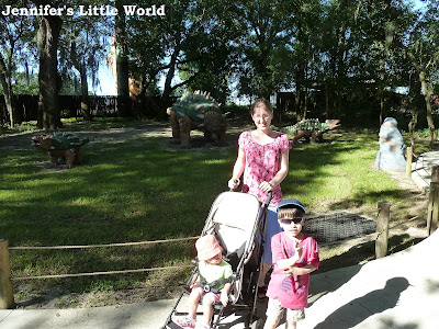 Family at Dinosaur World, Orlando, Florida