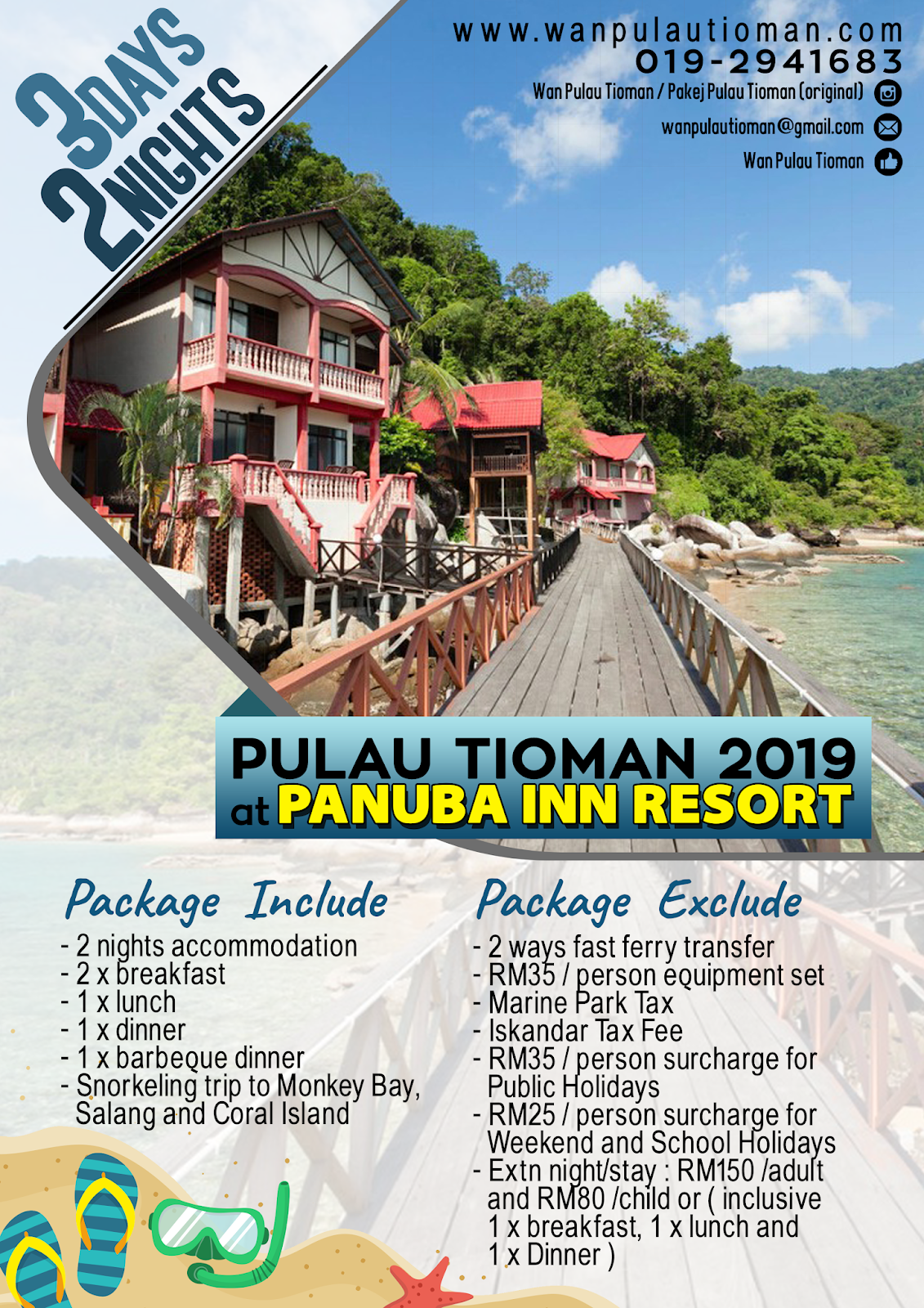 2019 3 Day 2 Nights at Panuba Inn Resort - Pulau Tioman Malaysia