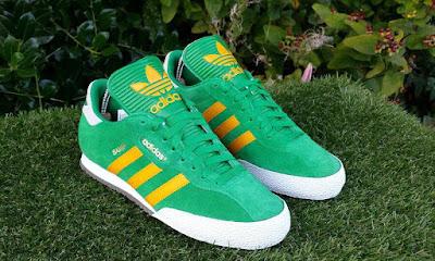 Green & Orange Adidas Samba Super