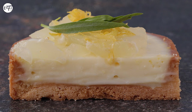 Tarte citron estragon de Frédéric Bau