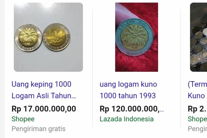 Viral Koin Rp 1.000 Bergambar Sawit Dijual Ratusan Juta?