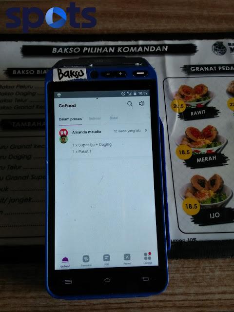 spots aplikasi kasir online di Bakso Granat Mas Aziz