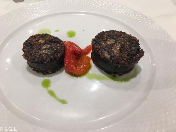 Morcilla de Burgos en Restaurante Casa Ojeda