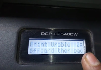 print Unable 0A Error Brother DCP-L2540DW-Brother -L2541 DW
