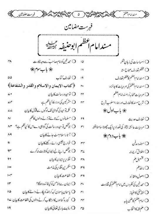 Abu Hanifa Book Urdu