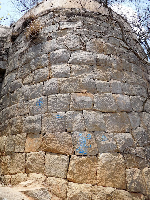 The outer wall of the Nandidurg fort, Nandi Hills