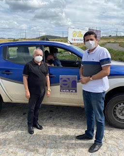 Secretário Célio Alves articula com DER solução para evitar acidentes na saída do Nordeste para a PB-057, em Guarabira