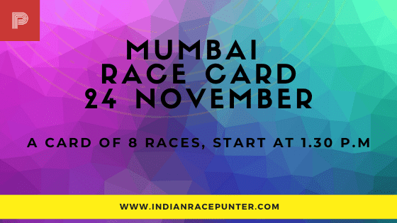 Mumbai Race Card, free indian horse racing tips, indiarace