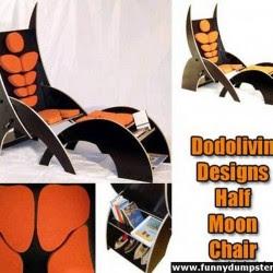 Diseño de sillón con mucho ingenio y creatividad.