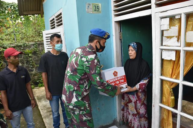 Warga Kelurahan Katulampa Kecamatan Bogor Timur Ketiban Rezeki TNI