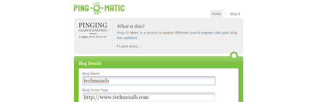 Ping-o-Matic friendly helpful ping site. In this tool, they notify many search engines