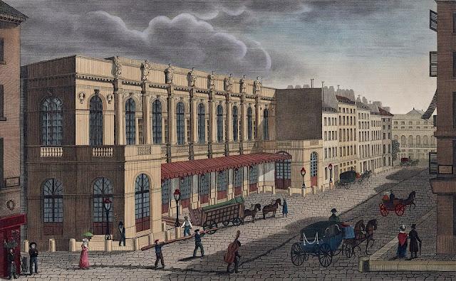 The Théâtre de l'Académie Royale de Musique, the official title of the Paris Opera ca. 1821