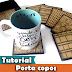 DIY   Porta copos   Scrap decor   Tutorial   PAP