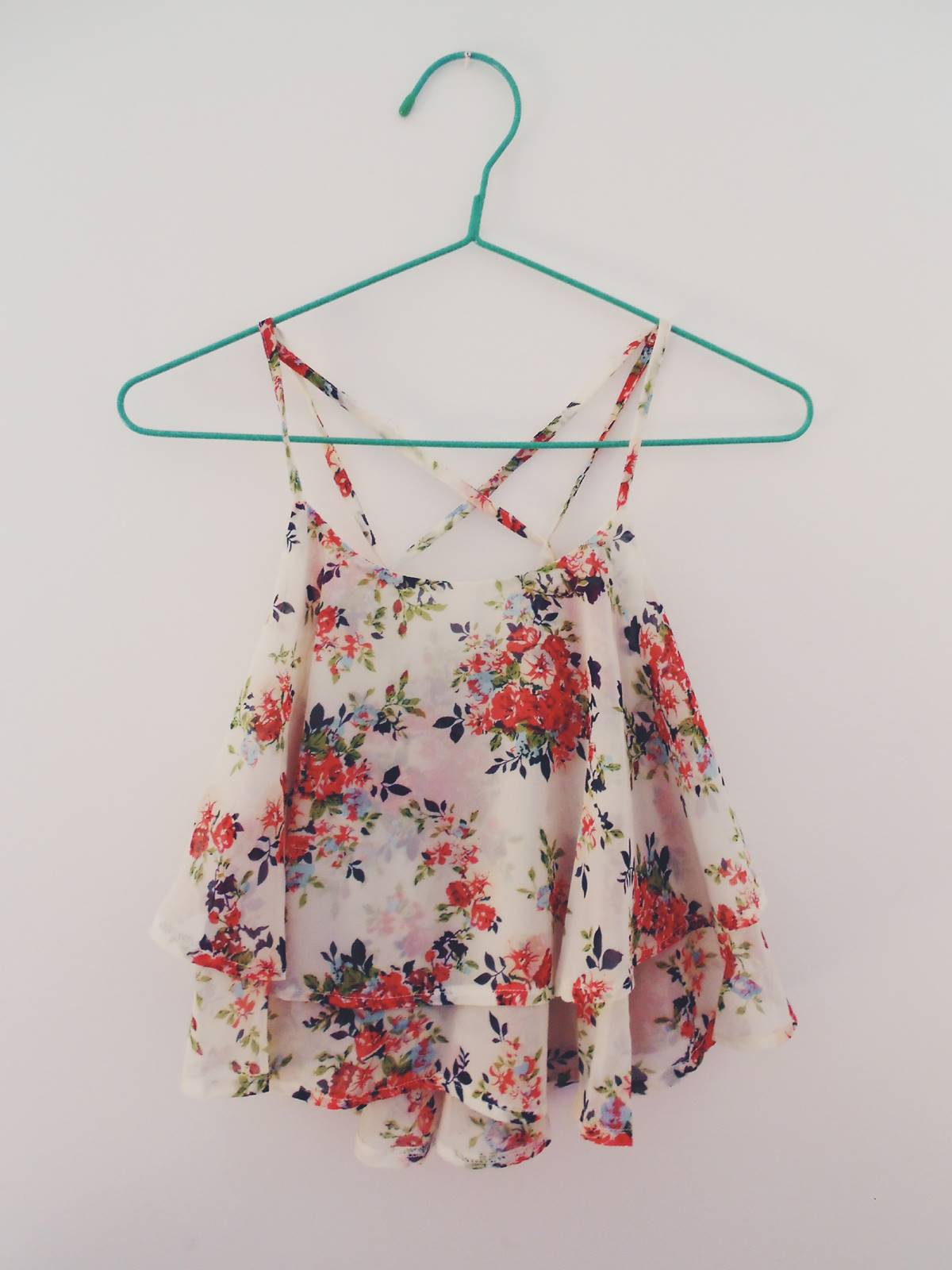 new in | floral top