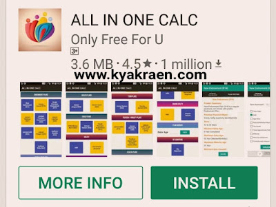 ALL IN ONE CALC android app kaise use kare.Phone par lic premium aur maturity kaise check kare step by step hindi me
