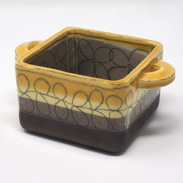 Square honey glazed dish for sale on Etsy