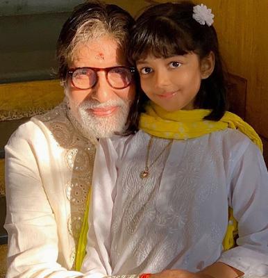 Aishwarya Rai Daughter and  her grandfather Amitabh Bachchan