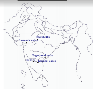 palaeolithic sites in India prehistory